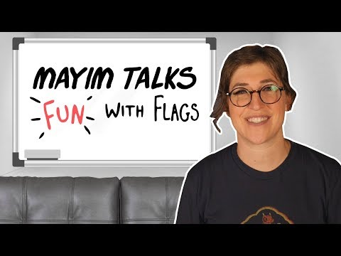Talking Fun With Flags on The Big Bang Theory  Mayim Bialik
