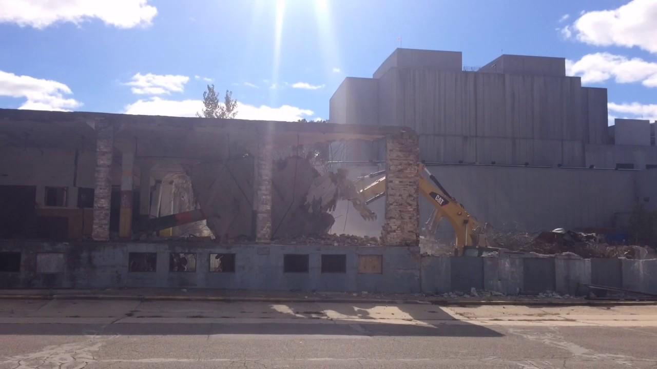 Anaconda Wire building demolition - YouTube