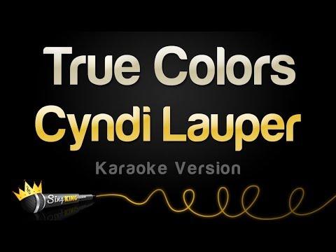 Cyndi Lauper - True Colors Karaoke
