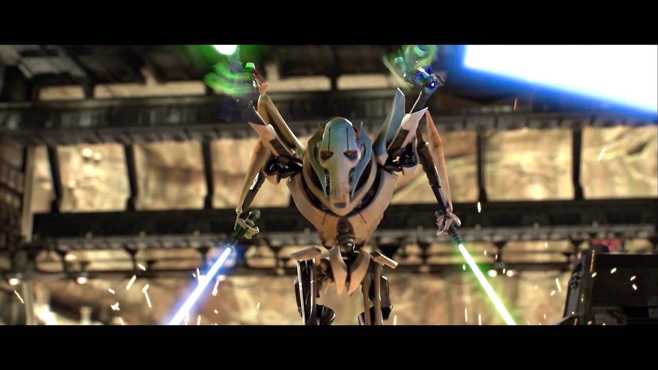 Lego Star Wars Wallpaper Hd Obi Wan Vs Grievous Duel No Music Sfx Only Youtube