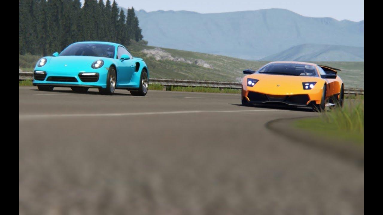 Top Speed Lamborghini Murcielago Lp670 4 Vs Porsche 911 Turbo S At