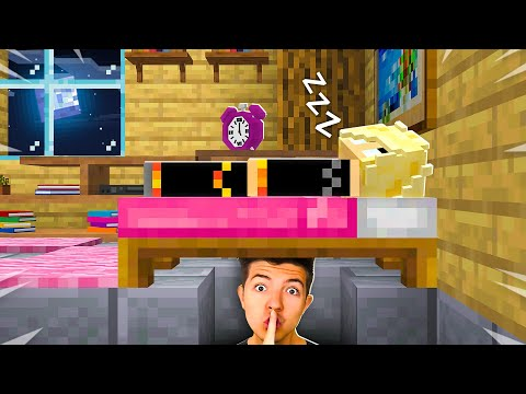 I Spent 24 Hours in BriannaPlayz Minecraft House! (She had no clue...)