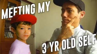 Meeting My 3 YEAR OLD SELF