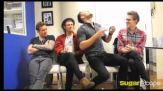 Mcfly play the Love Is On The Radio garling game