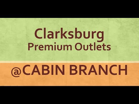 Amazing Clarksburg Premium Outlets At Cabin Branch In Maryland   YouTube