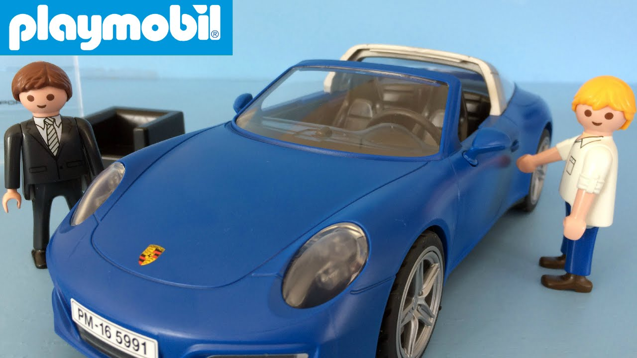 playmobil toy car porsche 911 unboxing and playing 5991. Black Bedroom Furniture Sets. Home Design Ideas