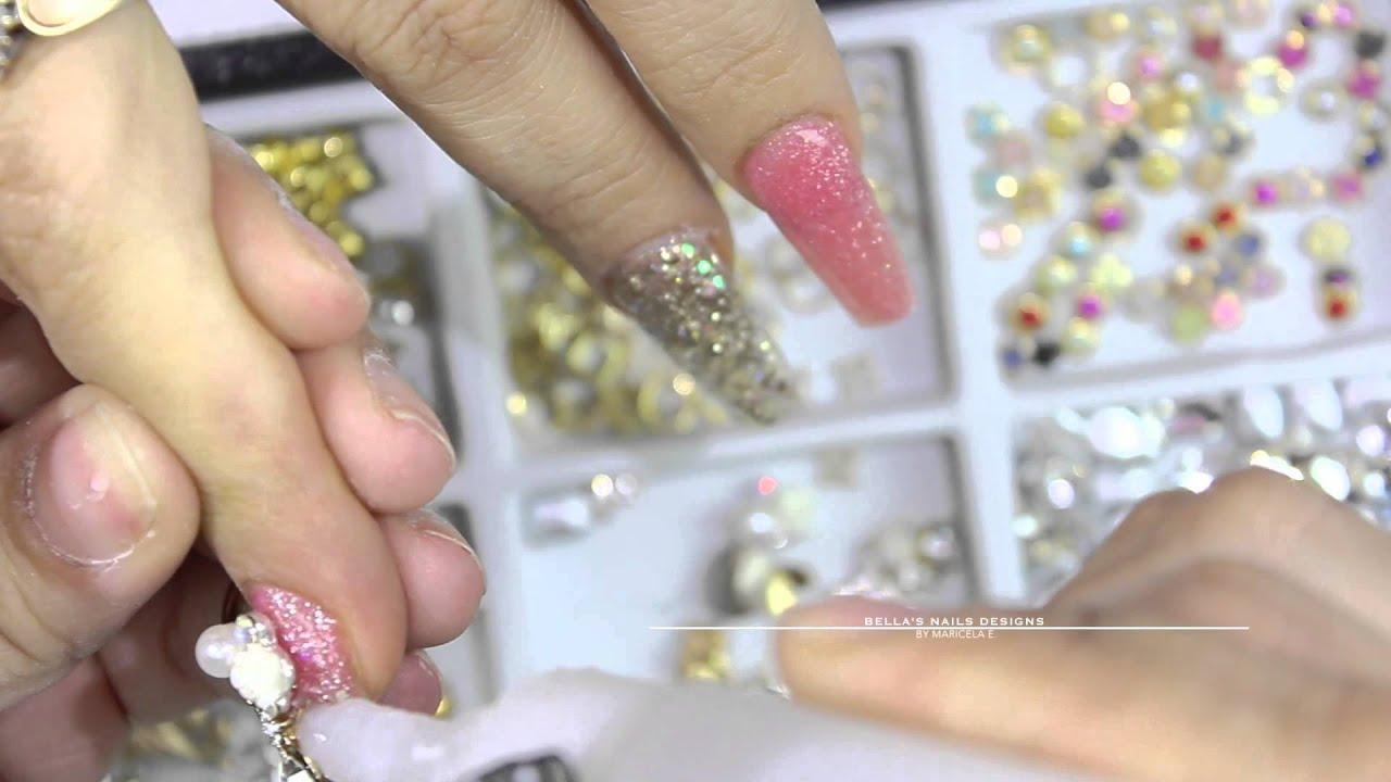 "acrylic nails - ""love in paris"""