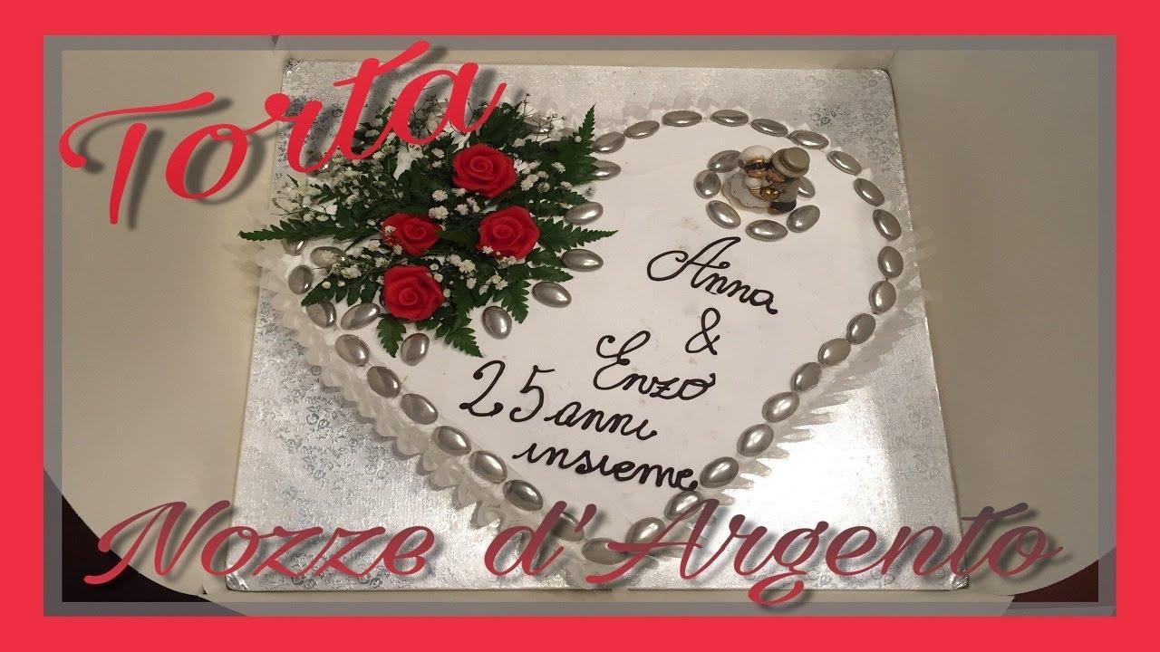 Torta nozze d 39 argento youtube for Decorazioni torte per 60 anni di matrimonio