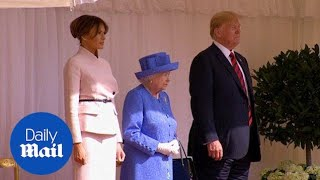 Queen Elizabeth welcomes Trump and wife to Windsor Castle