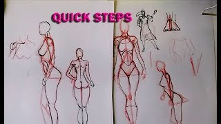 Quick Steps To Draw The Female Body