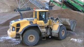 Volvo L220G Working In A Gravel Pit