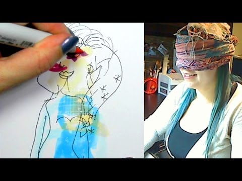 BLINDFOLD DRAWING CHALLENGE - Elsa from YouTube · Duration:  18 minutes 21 seconds