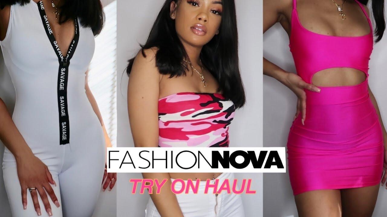 Fashion Nova Try On Haul Ft Sunber Hair Youtube