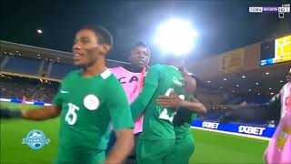 Nigeria goal in the semi final vs Sudan CHAN 2018