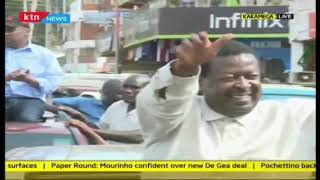 Huge crowd welcomes Gideon Moi and Musalia Mudavadi in Kakamega