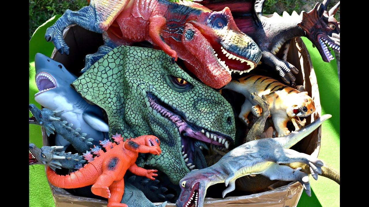 Shark Toys For Boys And Dinosaurs : Giant box big dinosaurs puppet mask toys dragons sharks