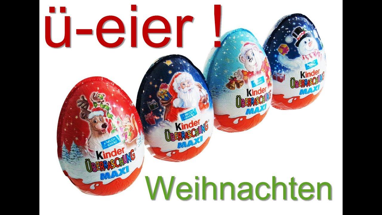 kinder berraschung eier weihnachten sonderserie surprise eggs ei 2014 2015 youtube