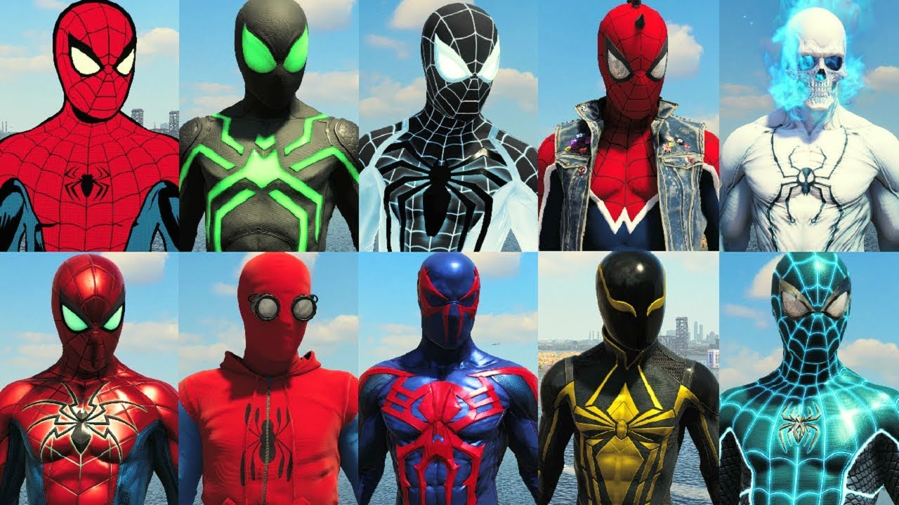 spider man ps4 suits
