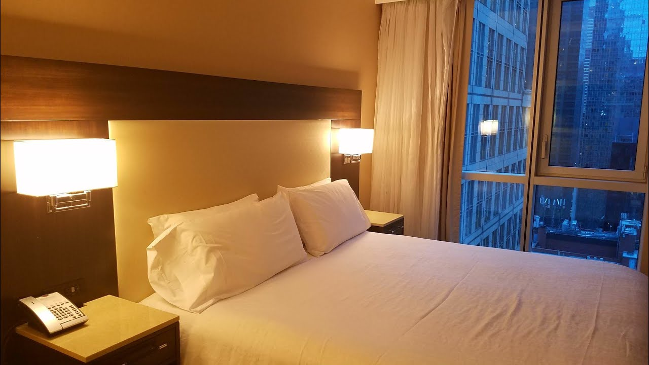 Hilton Garden Inn New York Times Square Central - Room 2408 - YouTube