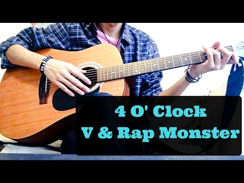 BTS V & Rap Monster - '4 O'Clock (네시)' [Guitar Cover/Chords]