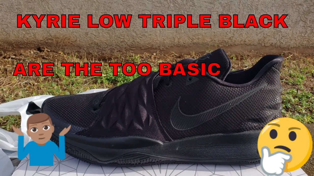 00edf043937 KYRIE LOW TRIPLE BLACK REVIEW - YouTube