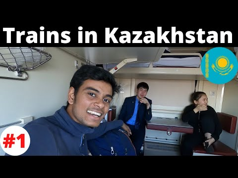 Trains in Kazakhstan || Sim Card & Local Currency