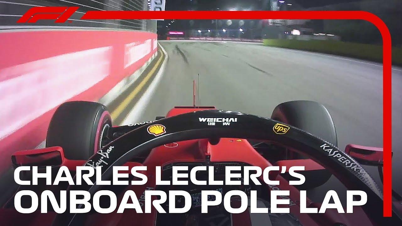 Charles Leclerc's Onboard Pole Lap | 2019 Singapore Grand Prix | Pirelli