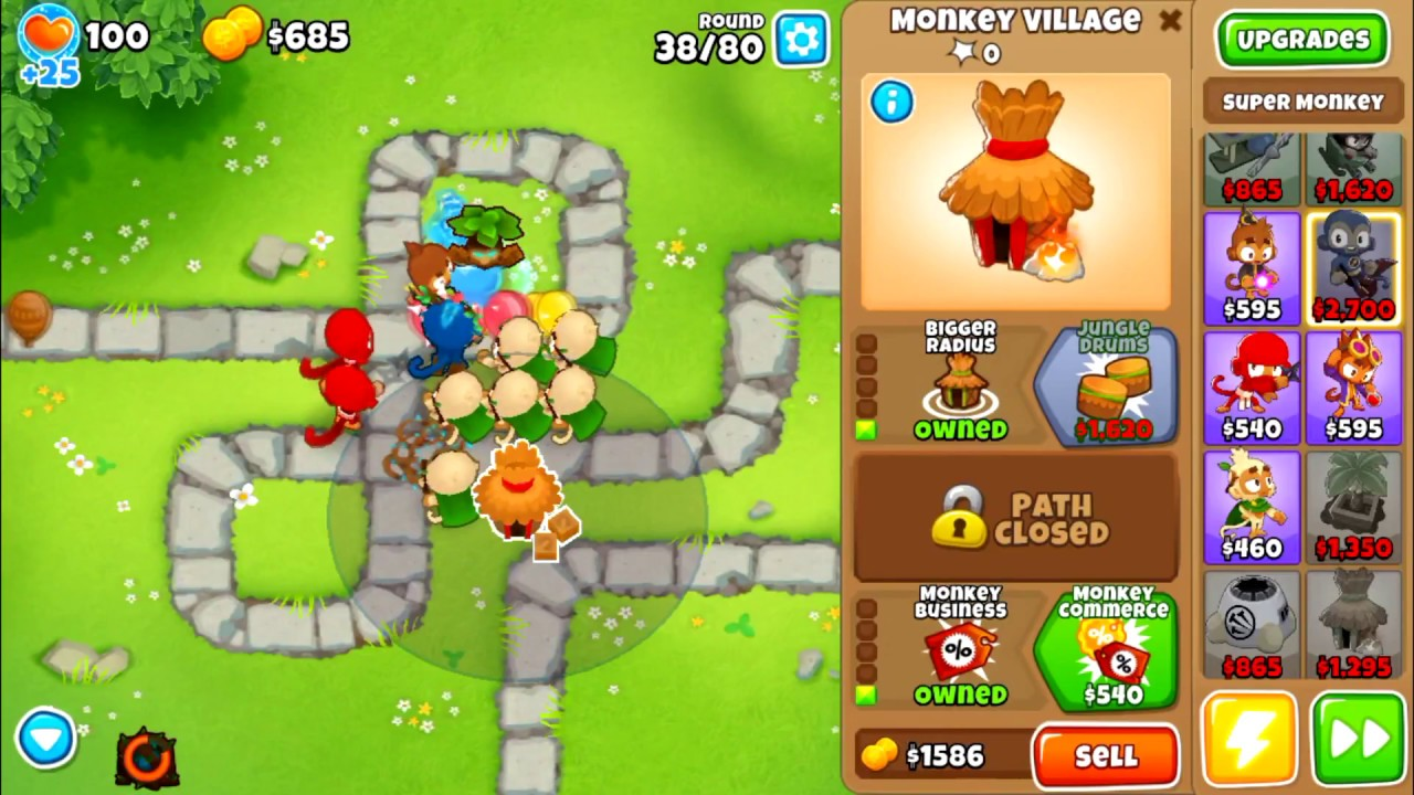 How to beat half cash mode in Bloons Tower Defense 6 (BTD 6)