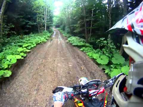 Beautiful forest road in Romania! Husqvarna WR 250 2t