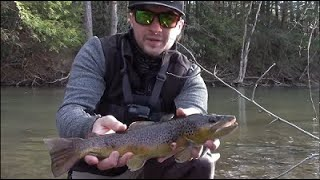 WINTER BROWN TROUT FISHING Central Pennsylvania