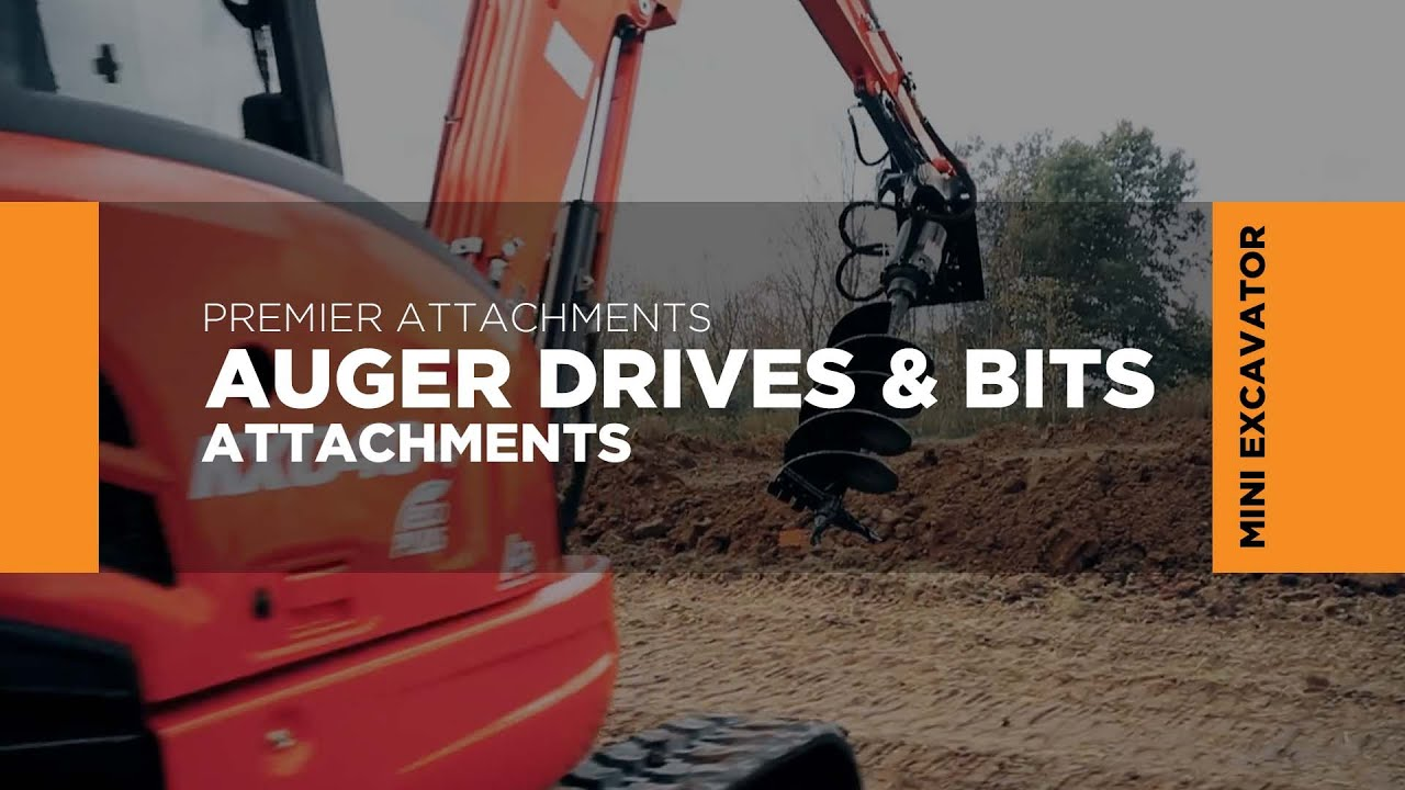 Premier Attachments Mini Excavator Earth Auger Bits Youtube