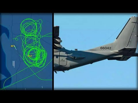 LOOK UP!!! AN UNIDENTIFIED PLANE CIRCLED THIS US CITY FOR 2 WEEKS... GOV SILENT