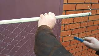 посадка ромбо-рамованая сеть. Изготовление и посадка флажка (экрана)