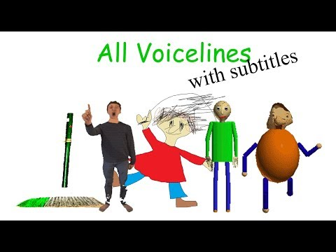 All Voicelines with Subtitles | Baldi's Basics in Education