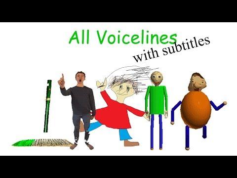 Смотреть All Voicelines with Subtitles | Baldi's Basics in Education and Learning (v1.2) онлайн