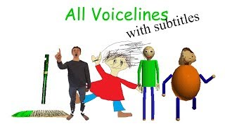 All Voicelines with Subtitles | Baldi's Basics in Education and Learning (v1.2) thumbnail