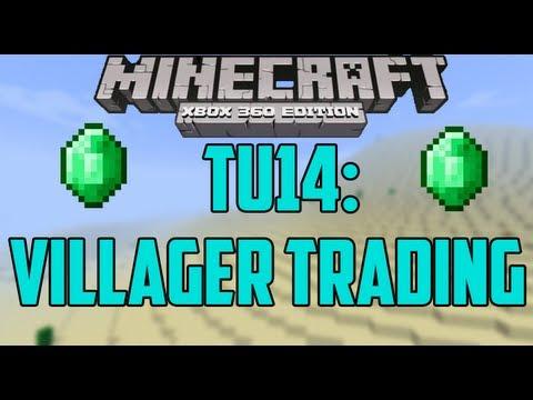 Minecraft xbox 360 villager trading system