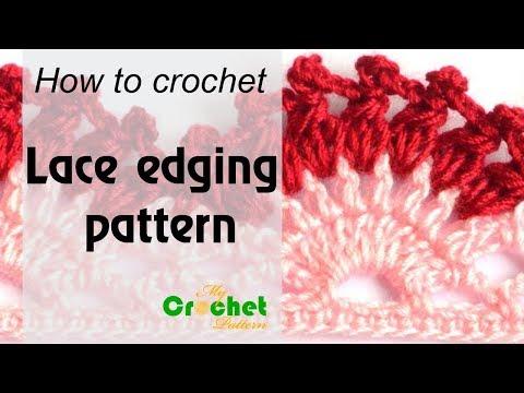 How to crochet Lace edging pattern – Free crochet pattern