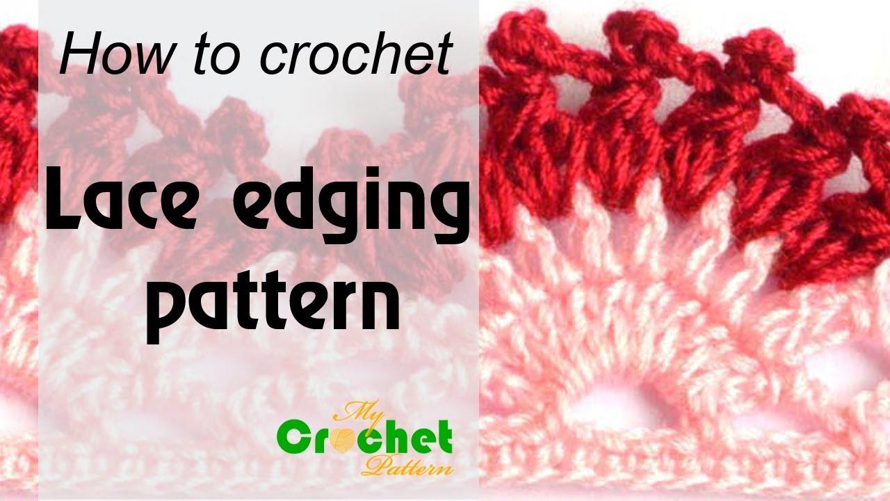 How To Crochet Lace Edging Pattern Free Crochet Pattern Youtube