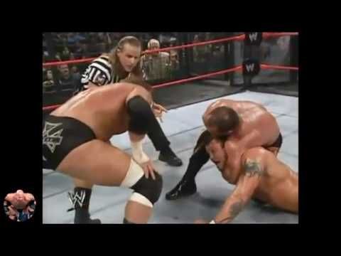 WWE Elemination Chamber 2005 Highlights - Triple H Vs Batista Vs Orton Vs Edge Vs Jericho Vs Benoit