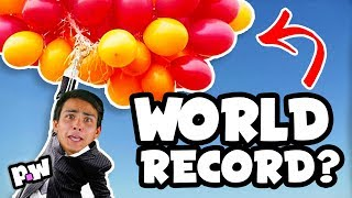 POPPING 46 BALLOONS (attempting Guinness World Records - YOU DECIDE!)