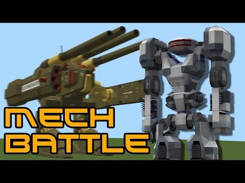 Minecraft Giant Mech Battle! (Rival Rebels Mod)
