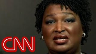 Stacey Abrams reacts to Kemp's hacking probe