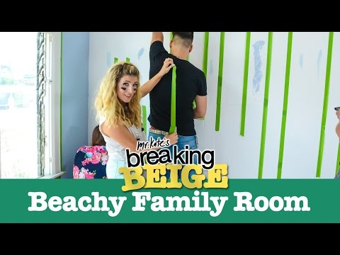 Beautiful Beachy Family Room (PART 1) | Breaking Beige | Before and After | DIY Home Decor | Mr Kate thumbnail