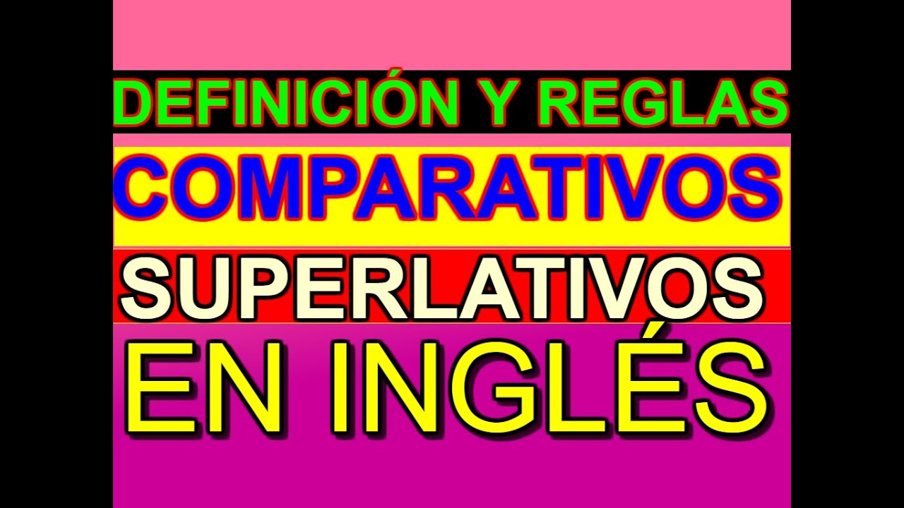 Comparativos Y Superlativos En Inglés Youtube