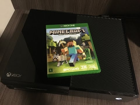 Unboxing Minecraft Xbox One Edition - ptbr