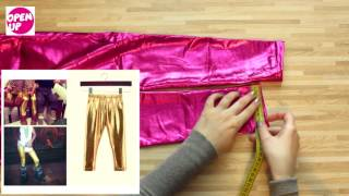 Посылка из Китая alliexspress, распаковка и обзор детских лаковых лосин для девочки
