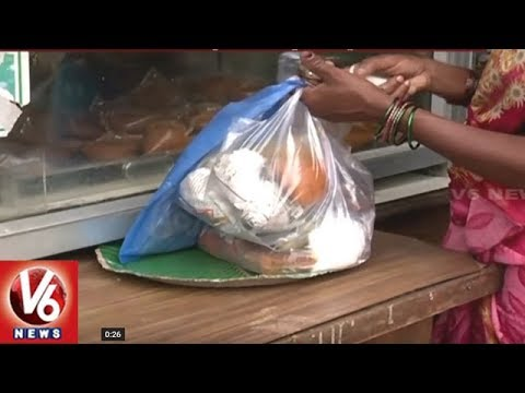 Special Story On Plastic Usage At Telangana Secretariat Canteen | V6 News