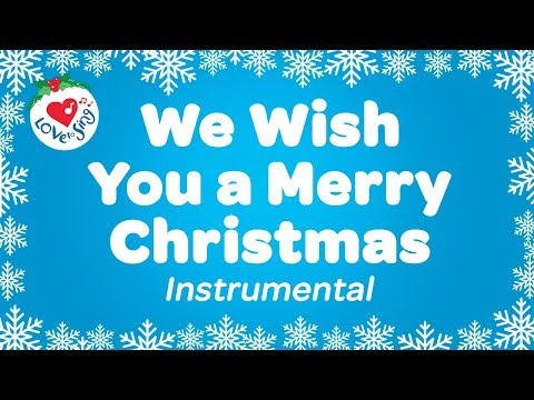 We Wish You a Merry Christmas Karaoke Instrumental Christmas Songs with Song Lyrics