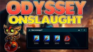 how to beat odyssey onslaught with 5 ziggs and 2 augments free odyssey gem league of legends